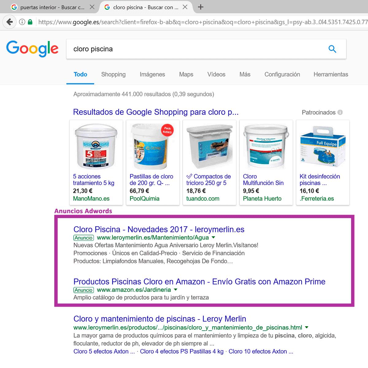 anuncios red busqueda google