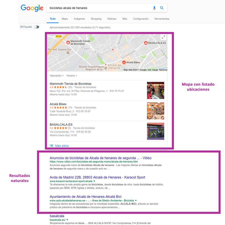 búsqueda local palabra clave