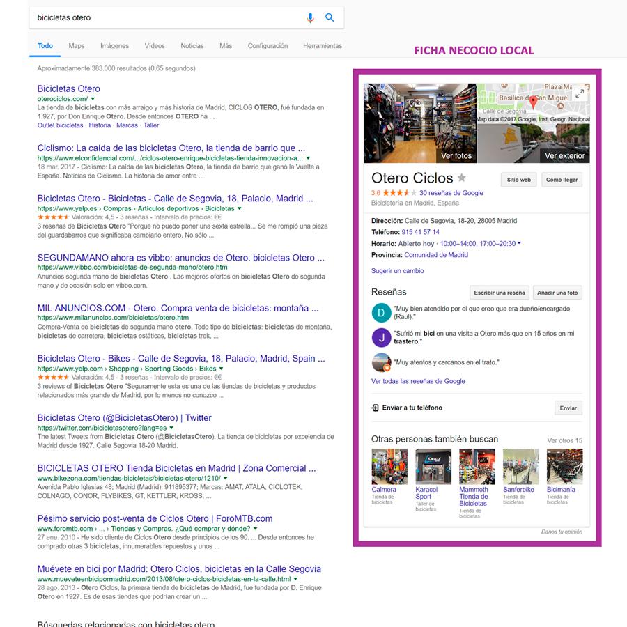 ficha google bussines