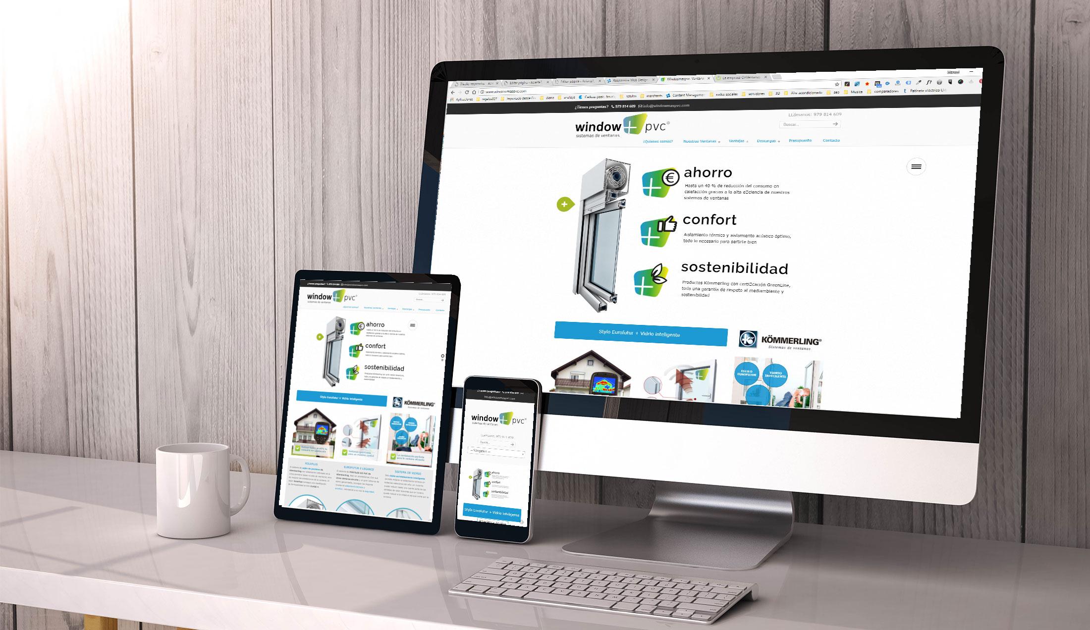 ejemplo página web con diseño responsive
