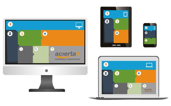 diseño responsive para diferentes dispositivos